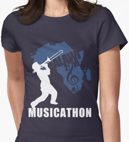 MUSICATHON Tshirt Blue Womens Fitted T-Shirt