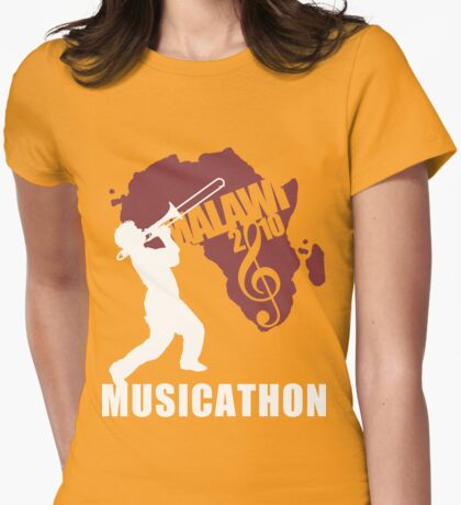 MUSICATHON Tshirt Red Womens Fitted T-Shirt