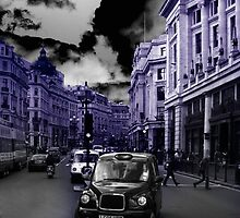 London taxi, blue version by picanro