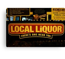 Local Liquor 1.0 Canvas Print