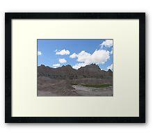 Badlands Scenery Landscape Framed Print