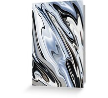 Grey and Black Metal Marbling Effect Abstract Greeting Card