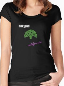Oakland, California Women's Fitted Scoop T-Shirt
