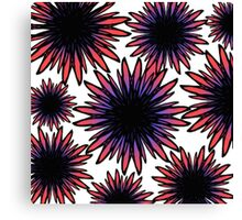 Pink and Purple Hand Drawn Flowers Canvas Print