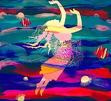 Ocean Woman Jellyfish by Pepe Psyche