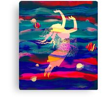 Ocean Woman Jellyfish Canvas Print