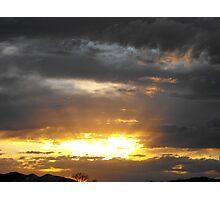 Golden Sunbeams Photographic Print