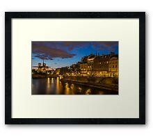 River Seine and Notre Dame Framed Print