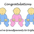 Congratulations to triplets, two boys, one girl. by KateTaylor