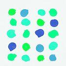Sea Glass Circles by Olivia Joy StClaire