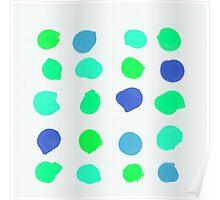 Sea Glass Circles Poster