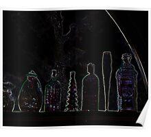 Geometry in Bottles Poster