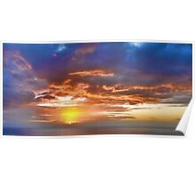 a spectacular sunrise Poster