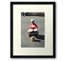 Drummer Boy in New York Framed Print