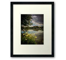 Storm Over the Lake Framed Print