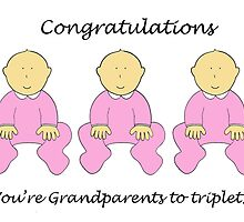 Congratulations, you'e Grandparents to girl triplets. by KateTaylor