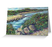 By The Breechway- Rhode Island Shore Greeting Card