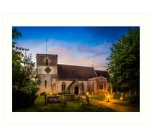 St Mary Kintbury Art Print