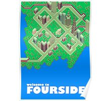 Map of Fourside Poster