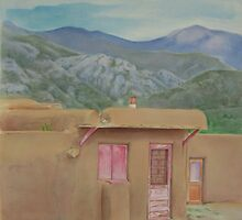 Taos Pueblo  by Catherine Kuzma