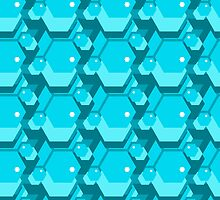 geometric seamless pattern with hexagons by Ann-Julia