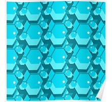 geometric seamless pattern with hexagons Poster