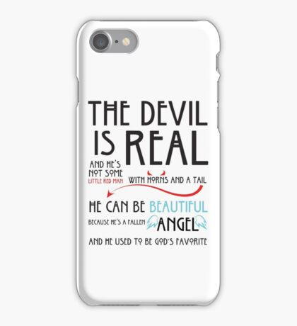 The Devil is  Real iPhone Case/Skin