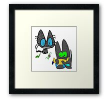 Cats with Toys Framed Print