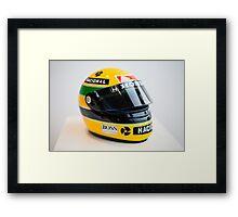 Ayrton Senna's Helmet - Legend of F1 Framed Print