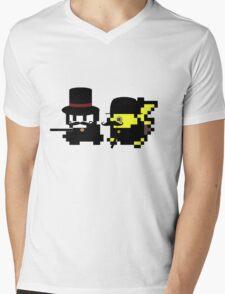 Pokemon Gentlemen Mens V-Neck T-Shirt