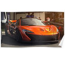 McLaren P1 in Volcanic Orange Coarse Poster