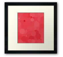 Cayenne Bubble Dot Color Accent Framed Print