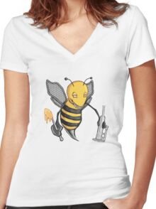 Bee Dab (No Text) Women's Fitted V-Neck T-Shirt