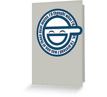 Ghost in The Shell Laughing Greeting Card