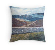 Scotland Blue Throw Pillow