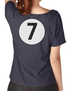 LUCKY, 7, Racing 7, SEVEN, Seventh, Number Seven, Number 7, Seven, Competition, BRITISH RACING GREEN Women's Relaxed Fit T-Shirt