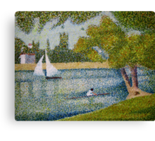 The Seine at La Grande Jatte Canvas Print