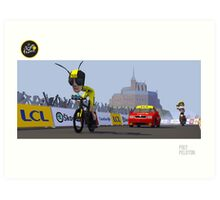 #PolyPeloton : Froome Wasp Art Print