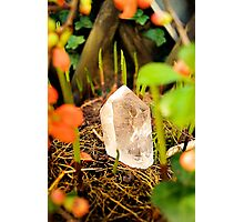 magical crystal quartz shines bright in a lovely nature place Photographic Print