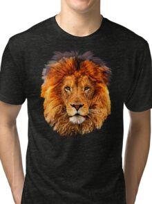 Old Lion Digital art Painting Tri-blend T-Shirt