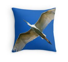 Great White Egret .....underneath the wingspan Throw Pillow
