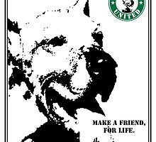 NO-KILL UNITED : ES MAKE A FRIEND (PRINT) by Anthony Trott