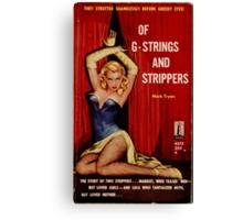 Fantastic Sexy Vintage Pulp Fiction Cover - classic pulp novel Canvas Print