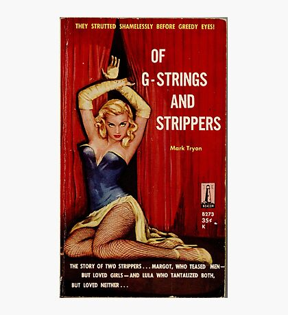 Fantastic Sexy Vintage Pulp Fiction Cover - classic pulp novel Photographic Print
