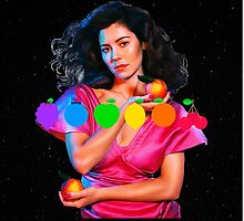 MARINA AND THE DIAMONDS FROOT LOGO AND PICTURE  by pennyportrait