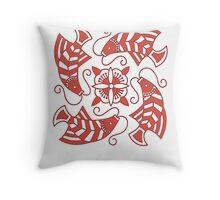 Red Koi Motif Throw Pillow