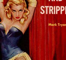 Fantastic Sexy Vintage Pulp Fiction Cover - classic pulp novel Sticker