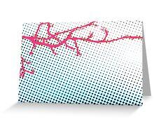 Pink Pop Nouveau Greeting Card