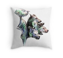 Hairy six pack Throw Pillow