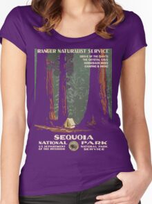 Vintage Sequoia Poster  Women's Fitted Scoop T-Shirt